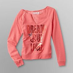 Dream Out Loud by Selena Gomez- -Junior's Off The Shoulder Sweatshirt