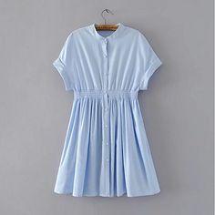 Women's Cute A Line Dress - Solid Color, Print 2018 - €15.89