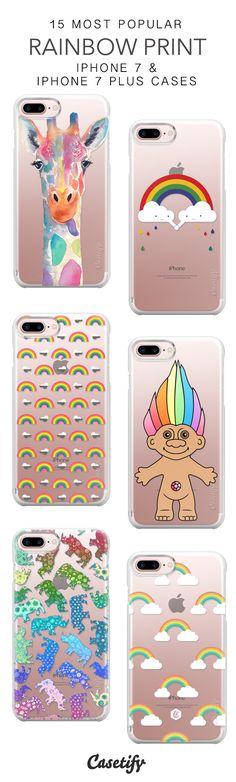 15 Most Popular Rainbow Print Protective iPhone 7 Cases and iPhone 7 Plus Cases. More Rainbow iPhone case here > https://www.casetify.com/collections/top_100_designs#/?vc=0U6kHeCebL