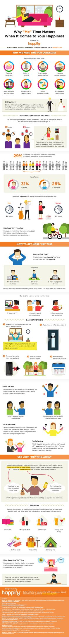 """Why """"Me Time"""" Is So Important For Happiness (Infographic) - mindbodygreen.com"""