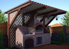 do-it-yourself brick street barbecue Outdoor Kitchen Sink, Bbq Kitchen, Backyard Kitchen, Outdoor Kitchen Design, Patio Design, Design Barbecue, Parrilla Exterior, Barbecue Garden, Outdoor Grill Station