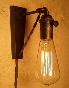 Hanging Pendant Wall Sconce. Retro Edison Lamp. Cool lamp gifts for men or women.