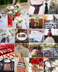Plaid is really more appropriate for a winter wedding, so if you're busy planning for cosy and cuddlesome weather, this post is for you!