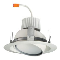 Halo 5 in matte white led recessed lighting eyeball trim and juno white recessed led eyeball retrofit trim module provides the easiest way to upgrade existing recessed housings to ultra efficient led illumination mozeypictures Gallery