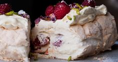 This delicate and pretty recipe for Meringue Roulade with Rose Petals and Fresh Raspberries is from Yotam Ottolenghi