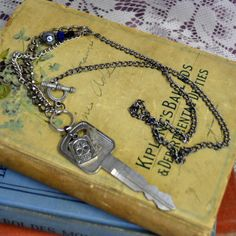 Upcycled Vintage Metal Key Skull Charm Mixed by madrabbitcouture
