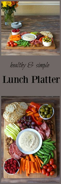 An easy healthy lunch idea that makes lunch a breeze.. Full of fresh fruit and vegetables, it's a simple healthy meal. Great for post holidays