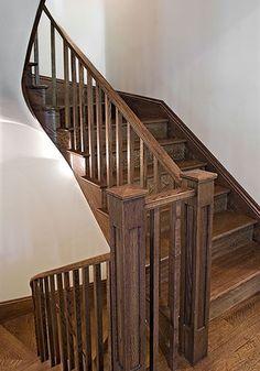 Shingle Style Home...I like the stairs
