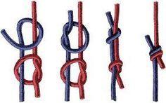 Verschiebbarer Knoten für Lederband, Armband etc., englischer Knoten