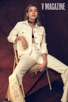 This girl's working it! Hailey Baldwin poses in a new photoshoot for V Magazine...