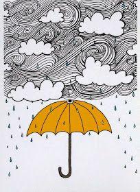 The Yellow Umbrella Illustration by: Taren S. by osloANDalfred Art And Illustration, Yellow Umbrella, Umbrella Art, Art Plastique, Art Inspo, Art Drawings, Artsy, Sketches, Wall Art