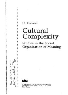 Library Genesis: Ulf Hannerz - Cultural Complexity