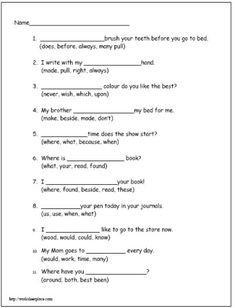 Second Grade Reading Worksheet 2 - Dolch