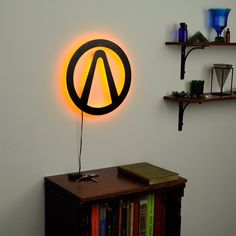 Borderlands Logo Wall Light Gamer Wall Signs by HaloLights