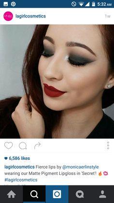 #lagirl #lip #swatch #red