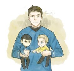 "naughtychekov: "" In canon he's really good with kids tho """