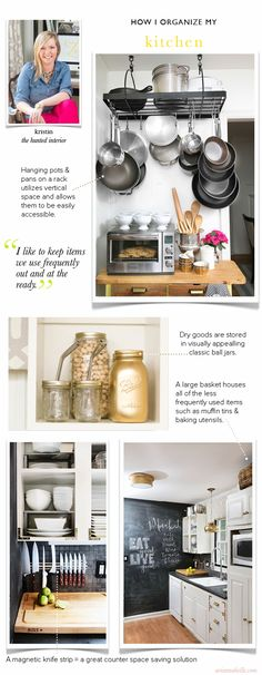 How Kristin Organizes Her Small Kitchen - Arianna Belle Organized Interiors | The blog