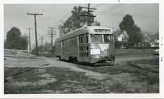Capital Transit PCC on Route 20 (Cabin John) (1950s).