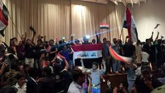 Hundreds of demonstrators in Iraq stormed and are now occupying the country's parliament.