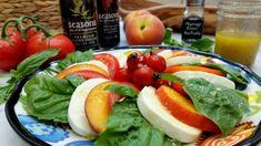 Peach Caprese Salad | SeasonsTaproom.com