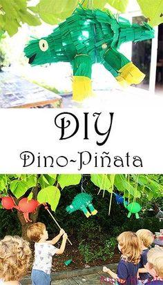 Dino Geburtstag. DIY DInosaurier Pinata selber machen