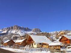 Centre du village sous la neige