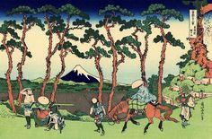 Hokusai 36 views of mount Fuji #26 Hodogaya on the Tōkaidō東海道程ケ谷 Tōkaidō Hodogaya