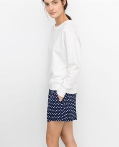 Summer's coming.  PRINTED POLKA DOT SHORTS from Zara