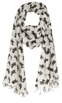 Scotty Dog- Wool and Cashmere Scarf - CRUMPET