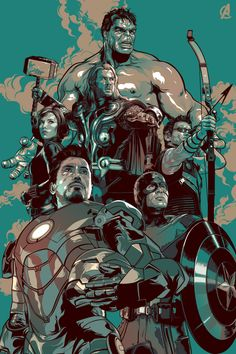 #Avengers #Fan #Art. (The Avengers) By: Aseo.  (THE * 5 * STÅR * ÅWARD * OF: * AW YEAH, IT'S MAJOR ÅWESOMENESS!!!™) ÅÅÅ+