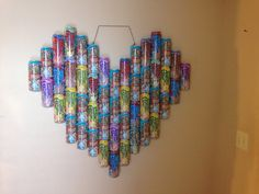 Glue peace tea cans together and hang it on the wall. Art!