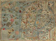 De Hanze: Carta marina van de Baltische Zee | entoen.nu