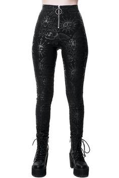 Women's Bottoms | Jeans, Leggings, Skirts & Shorts | Killstar Killstar Clothing, Gothic Leggings, Womens Size Chart, Dark Fashion, Skull Fashion, Trouser Pants, Alternative Fashion, Alternative Outfits, Leather Pants