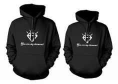 365 In Love His and Her Matching Hooded Sweatshirts You Are My Diamond Couples Hoodies 365 in love http://www.amazon.com/dp/B00FZ3A84U/ref=cm_sw_r_pi_dp_dL5Itb0GS18YRBC3