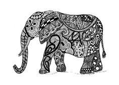 elefante zentangle art - Buscar con Google