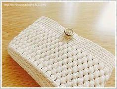 ■かぎ針編みで作る ボタン留め・玉編みポーチ   家づくり手帖