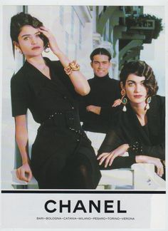 Chanel ad 1990 Helen Christensen