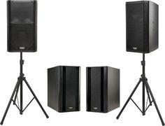 QSC K12 Powered Speaker Dual Sub Package