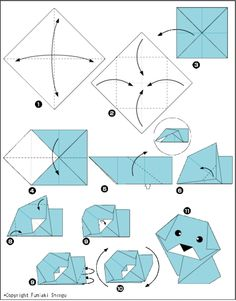 Dog Origami Instructions With 11 Steps Head