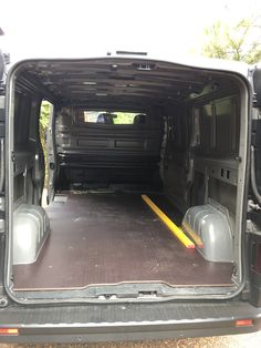 Carpentry van fitout (ART): Fitted pre fabricated floor from Motexion. Much quicker than making my own.