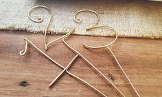 Wire numbers  rustic wedding  Guest table numbers with STICK