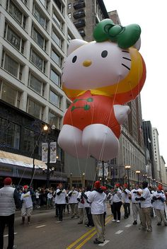 In 2009, Hello Kitty appeared in the McDonald's Thanksgiving Parade.
