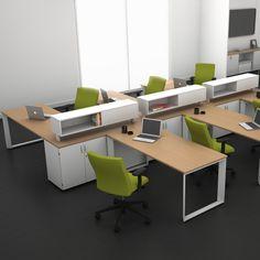 Linha Giotto M3 - Estação de Trabalho Office Space Design, Office Spaces, Office Plan, Office Ideas, Decoration, Desks, Offices, Corner Desk, King