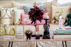 Dana's pillow on Chinoiserie Chic: Chinoiserie Chic House Tour - A Dozen Living Room Vignettes