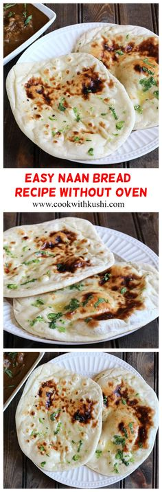 Tava Naan or Tawa Naan is a soft and chewy, delicious and super easy to make vegan homemade Indian flatbread recipe prepared on a cast iron skillet. This naan recipe can be made without oven. Potato Side Dishes, Best Side Dishes, Healthy Side Dishes, Vegetable Side Dishes, Homemade Naan Bread, Recipes With Naan Bread, Side Recipes, Easy Recipes, Easy Meals