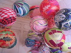 Try splattering paint on balloons for a kid's party