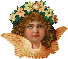 Cliparts Angels. Vintage. : On the wings of inspiration