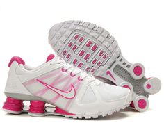 Nike Shox Turbo 2 womens Shoes in white with pink logo.  love!