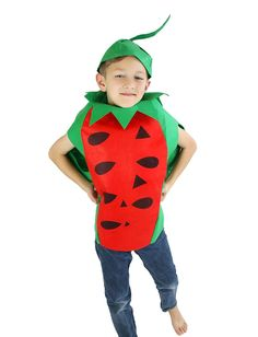 Watermelon Unisex School Play or Party Costume Children Clothing Fruit Outfit *** Visit the image link more details.