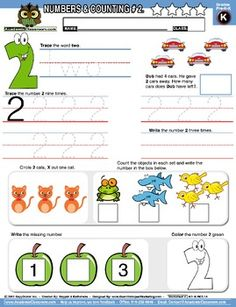 Free - Kindergarten Math - numbers and counting